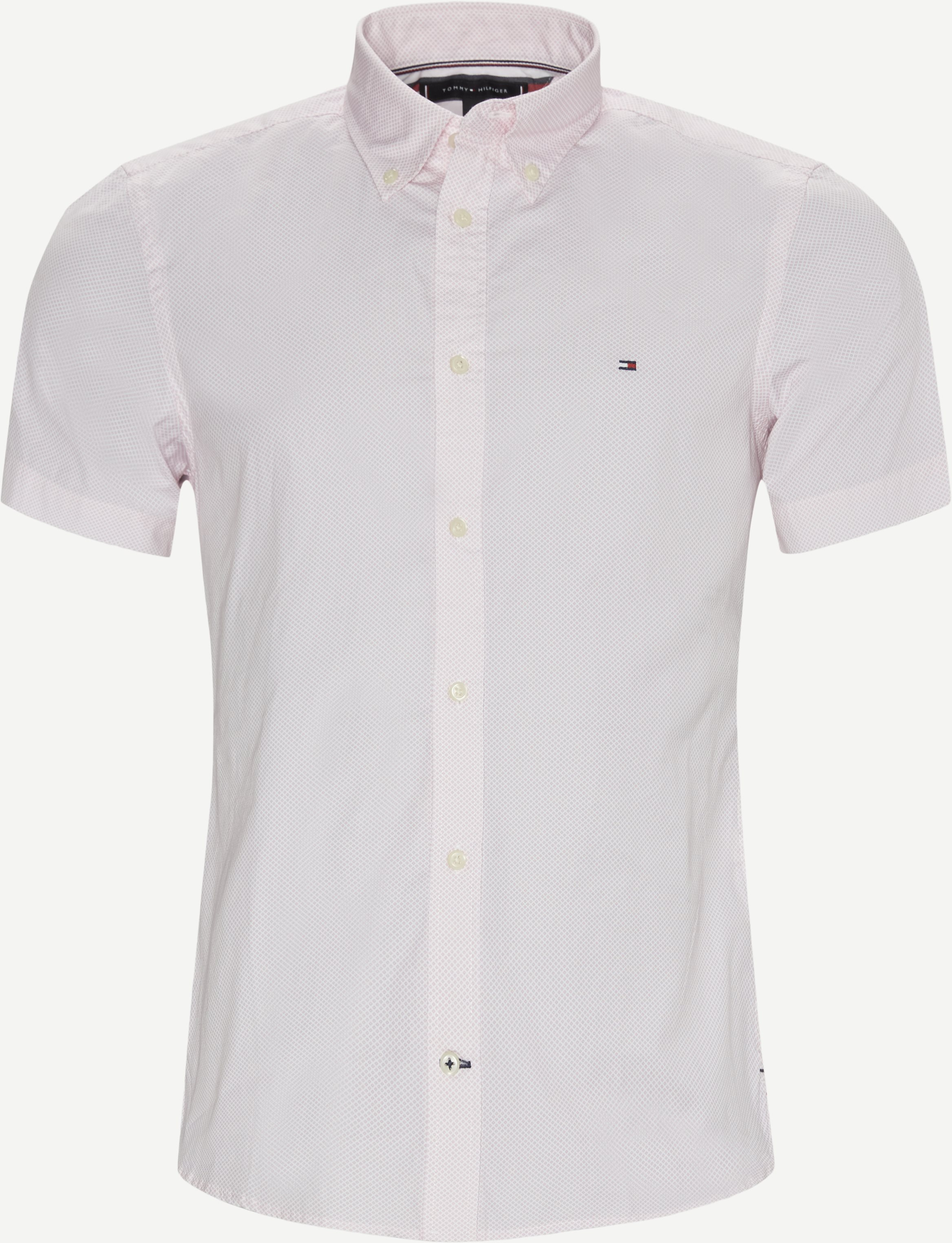 Short-sleeved shirts - Slim - Pink